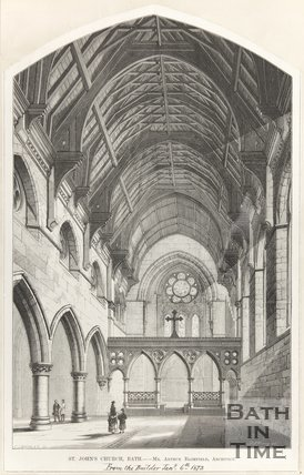 Interior of St. Johns Church Bath January 6th 1872