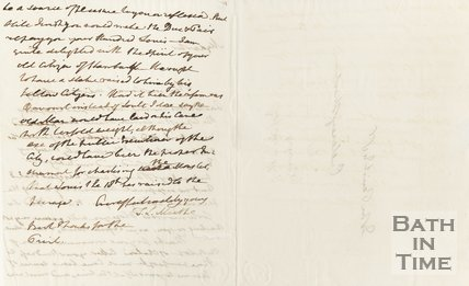 Letter addressed to John Parish Esquire, Pulteney Street 1819 verso