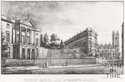 Sydney Hotel and St. Marys Church 1823