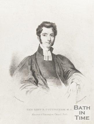 Engraving Revd. E. Tottenham M.A. Minister of Kensington Chapel, Bath