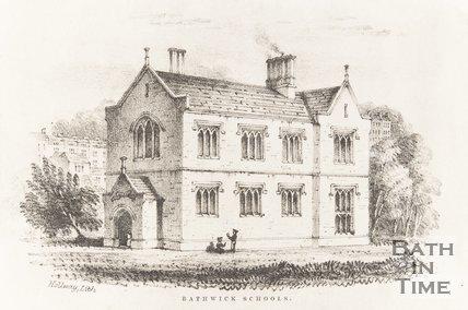Engraving Bathwick Schools 1840