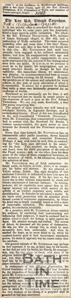 Obituary of Late Revd. Edward Tottenham 1853