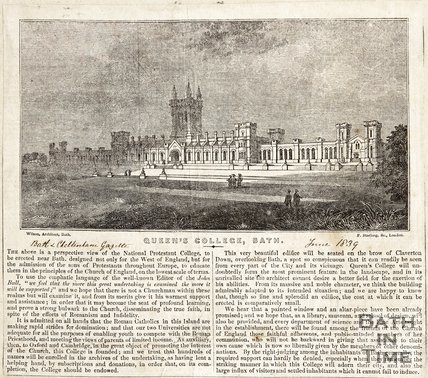 Queens College Bath, June 1839
