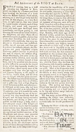 Full Account of the Riot at Bath, 1780