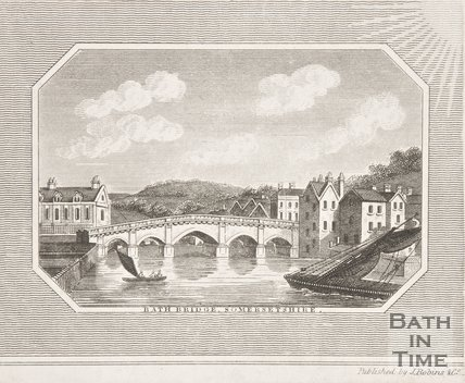 Bath Bridge Somersetshire, 1818