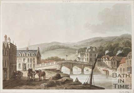Engraving Old bridge 1804