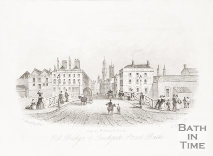 Old Bridge and Southgate Street, 1853.