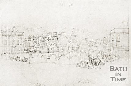 Sketch of the Old Bridge. Vigetti? c.1790-1792