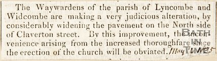 Newspaper article . May 14 1835.