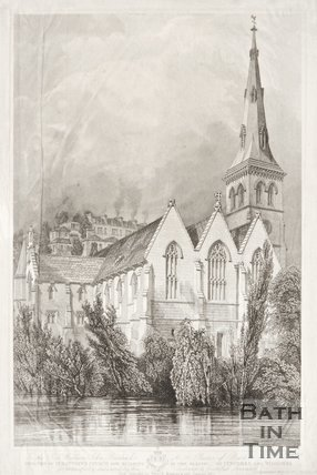View of St Matthews Church 1847