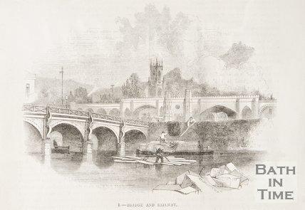 Old Bridge and Railway, 1849.