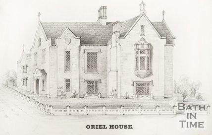 Print of Oriel House, 1835?