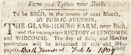 Farm and Tythes, near Bath 1809