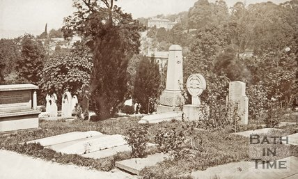 Bath Abbey Cemetery, c.1880.