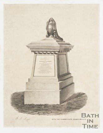 Memorial to Charles Richardson from Bath Abbey Cemetery