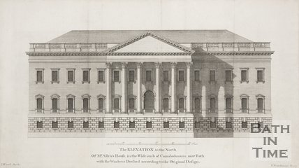 The Elevation, to the North Of Mr Allens House, in the Widcombe of Camalodunum, near Bath: with the Windows Dressed according to the Original Design 1749