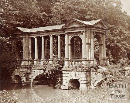 The Palladian Bridge, Prior Park, Bath. c.1870