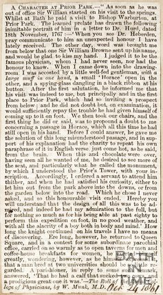 A Character at Prior Park. October 21 1861.