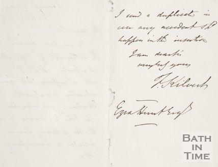 Reverse of letter from Kilvert to Ezra Hunt, 1852.