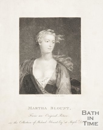 Portrait of Martha Blount.