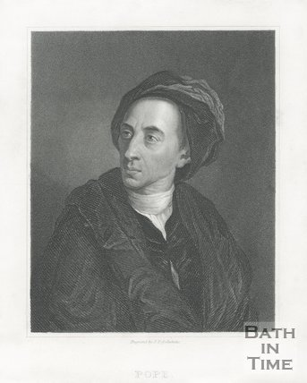 Portrait of Alexander Pope.