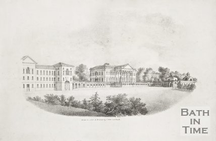 Prior Park near Bath c.1830.
