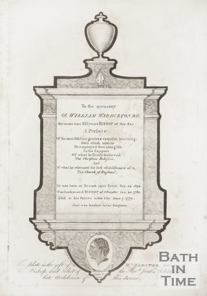 Tablet to the memory of William Warburton DD