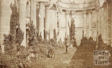Photograph of St. Marys Church at Prior Park c.1870.