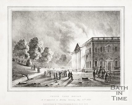 Prior Park House on Fire 1836