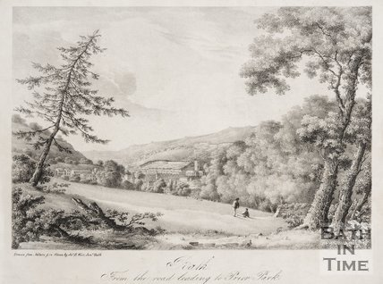 Bath, from the road leading to Prior Park, 1833.