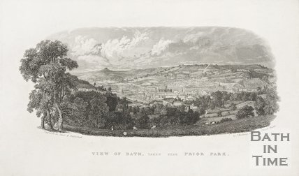 View of Bath, taken near Prior Park 1837?