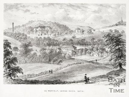 De Montalt Mill, Combe Down 1859