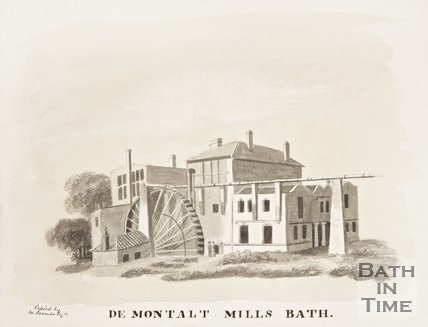 De Montalt Mills, Combe Down c.1850