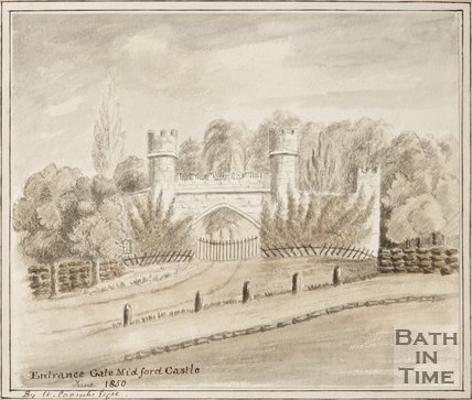 Entrance Gate, Midford Castle, June 1850