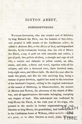 Book extract titled Hilton Abbey, Somersetshire