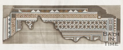 A diagram of the Roman mosaics found in Wellow. (Plate One) 1823