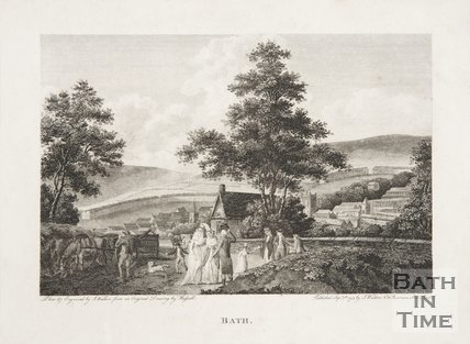 Bath. View from south west 1795