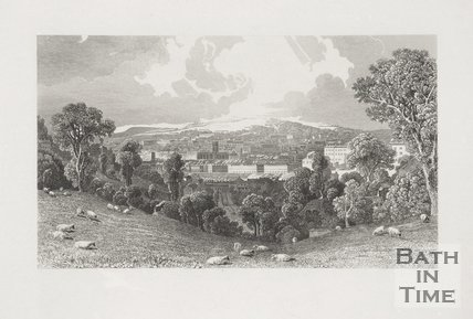 South View of the City of Bath 1827