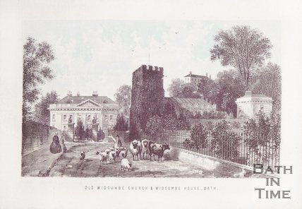 Old Widcombe Church & Widcombe Manor 1861