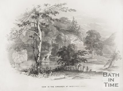 View of Grounds at Widcombe Manor, 1840