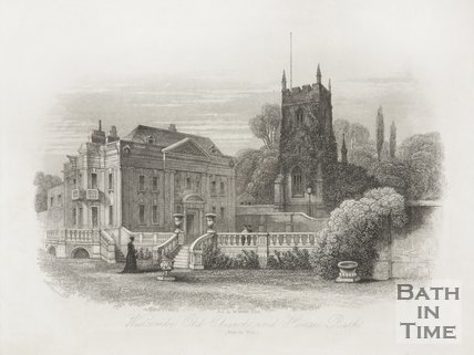 Widcombe. Old Church and Manor c.1886