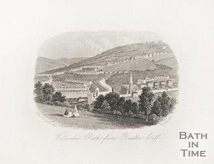 Widcombe, Bath, from Beechen Cliff. June 1854