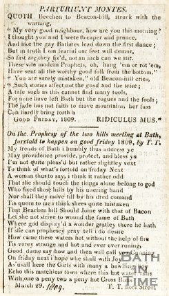 Poems concerning the predicted earthquake in Bath. March 29th 1809.