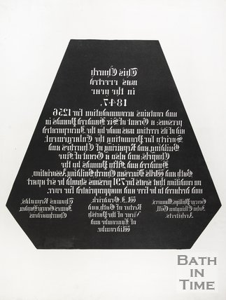A inverted plaque from St Matthews of Widcombe and Lyncombe, 1847.
