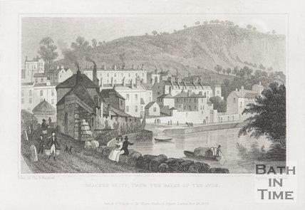 Beachen Cliff (Beechen Cliff), from the Banks of the Avon 1829