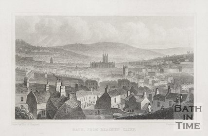 Bath from Beechen Cliff 1829