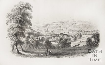 Bath from the S.E. (1850?)