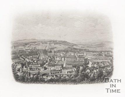 Bath from Beechen Cliff c.1886