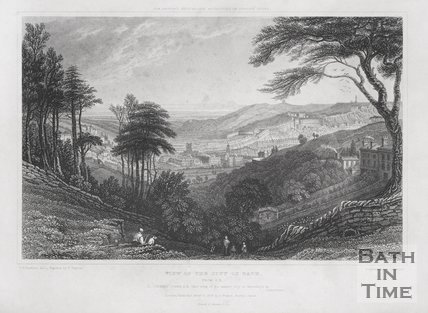 View of the City of Bath, from Southeast 1829