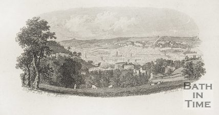 View of Bath, taken near Prior Park c.1851 detail